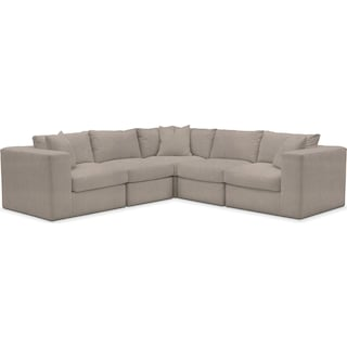 Collin Comfort 5-Piece Sectional - Weddington Cement