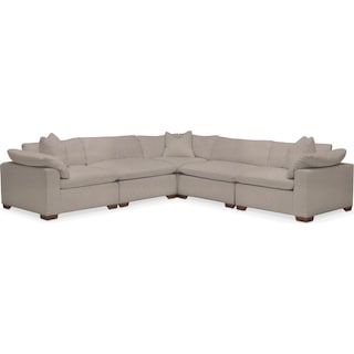 Plush 5-Piece Sectional - Weddington Cement