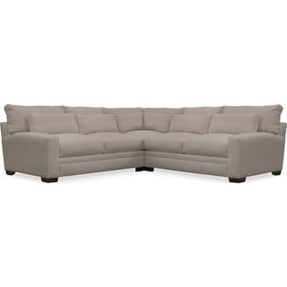 Winston Cumulus 3-Piece Sectional - Weddington Cement