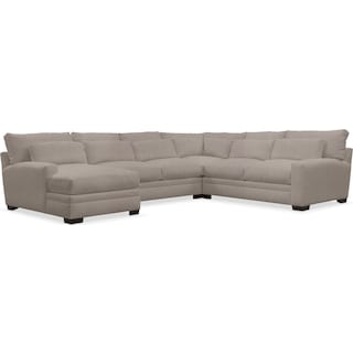 Winston Cumulus 4-Piece Sectional with Left-Facing Chaise - Weddington Cement