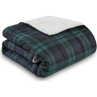 Acadia Plaid Sherpa Throw