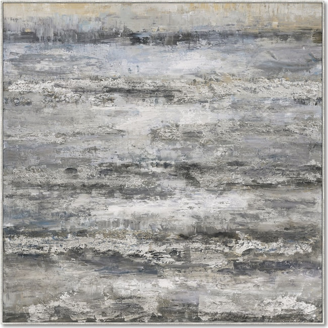 Home Accessories - Gray Layers Wall Art