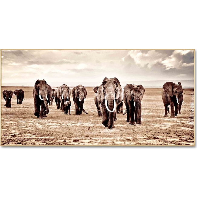 Home Accessories - Elephant Herd Wall Art
