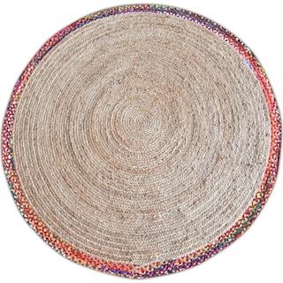 Afono Round Area Rug - Multi