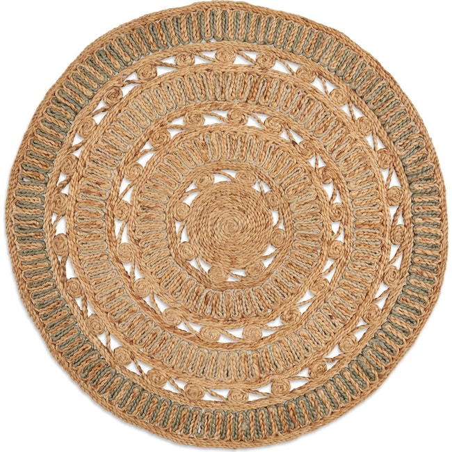 Rugs - Anson Round Area Rug - Natural