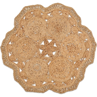 Angell Round Area Rug - Natural