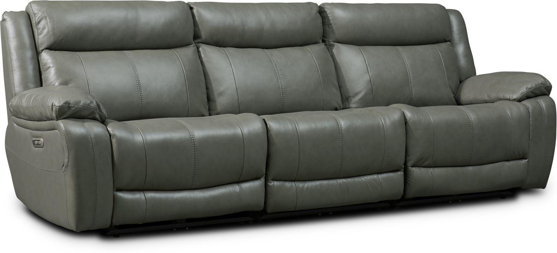 Living Room Furniture - Vince 3-Piece Dual-Power Reclining Sofa
