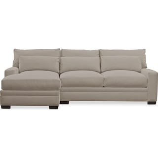 Winston Performance Comfort 2-Piece Sectional with Left-Facing Chaise - Benavento Dove