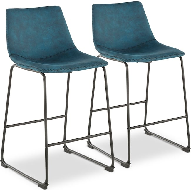 Dining Room Furniture - Eli Set of 2 Counter-Height Stools