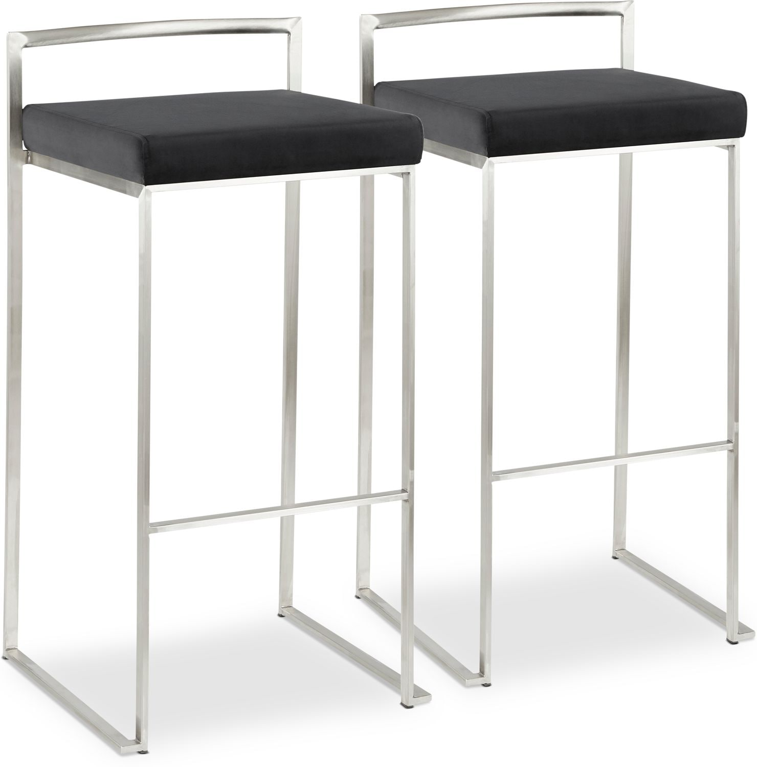 Dining Room Furniture - City Set of 2 Bar Stools