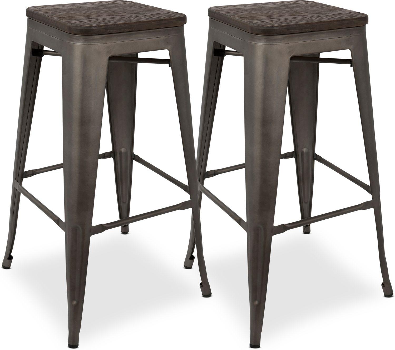 Dining Room Furniture - Dax Set of 2 Bar Stools