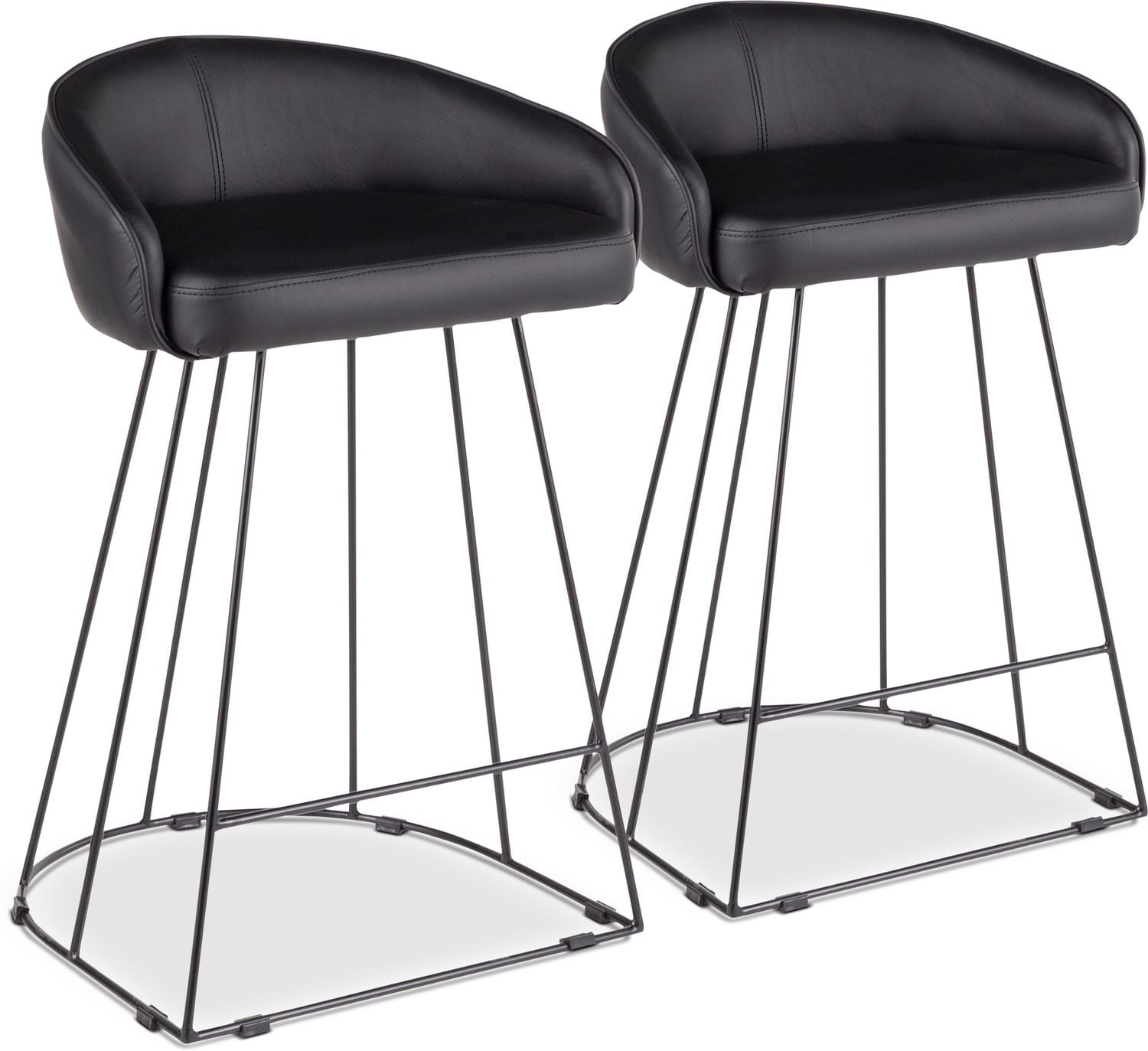 Dining Room Furniture - Gem Set of 2 Counter-Height Stools