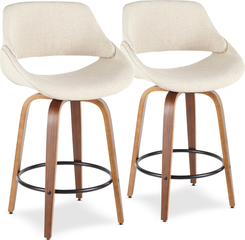 Dining Room Furniture - Uma Set of 2 Counter-Height Stools