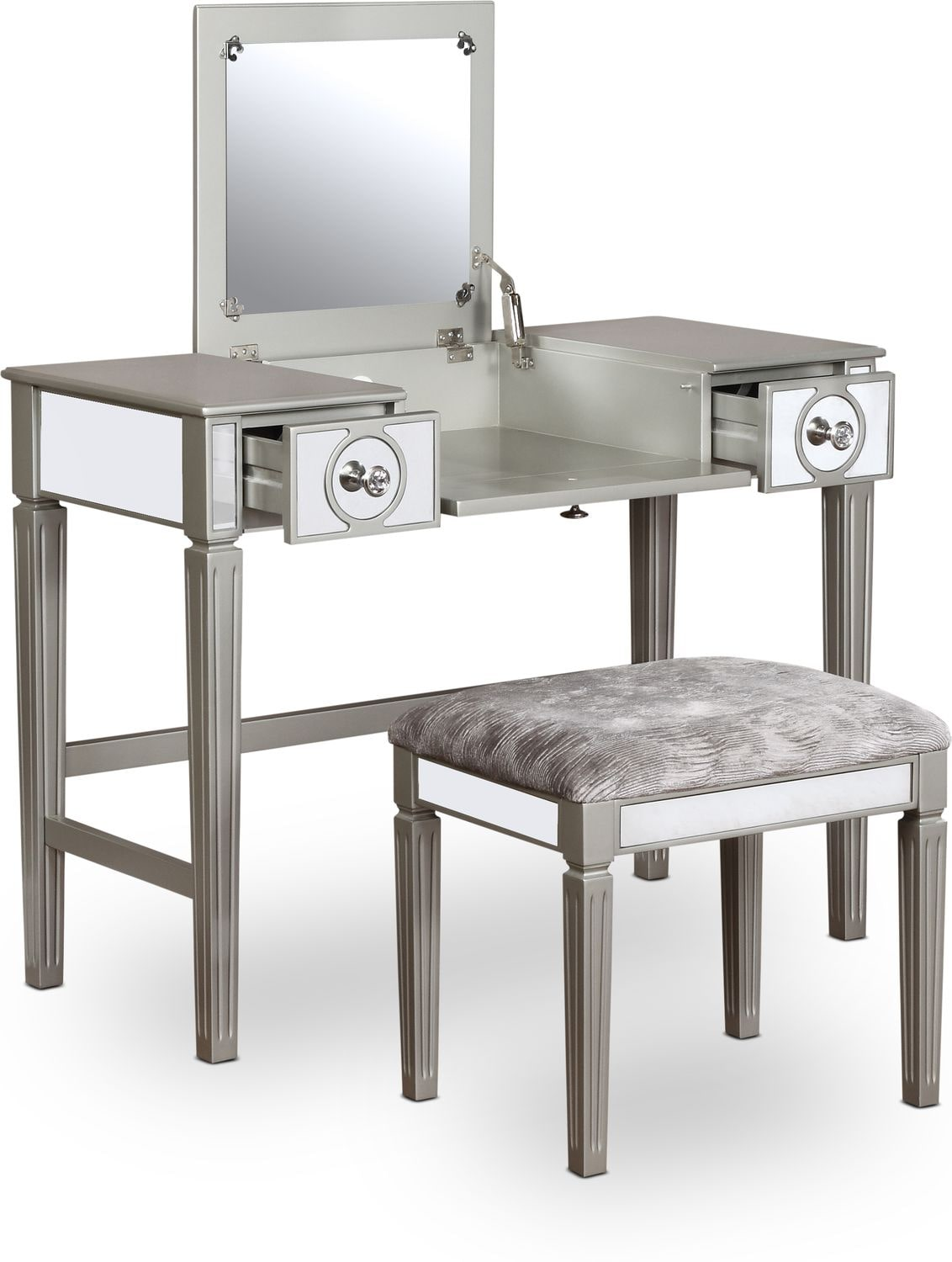 Accent and Occasional Furniture - Lexi Vanity Desk and Stool