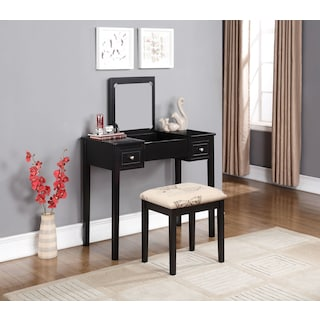 Butterfly Vanity Desk and Stool