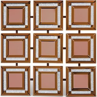 Gold Nine Panel Wall Mirror