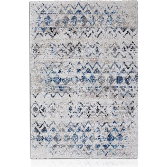 Rugs - Granada Area Rug - Blue Triangle