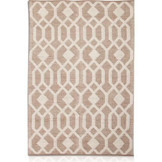 Tones 5' x 8' Area Rug - Natural and Ivory