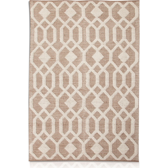 Rugs - Tones Area Rug - Natural and Ivory