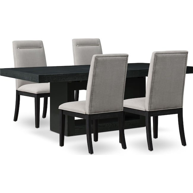 Dining Room Furniture - Banks Dining Table with 4 Chairs