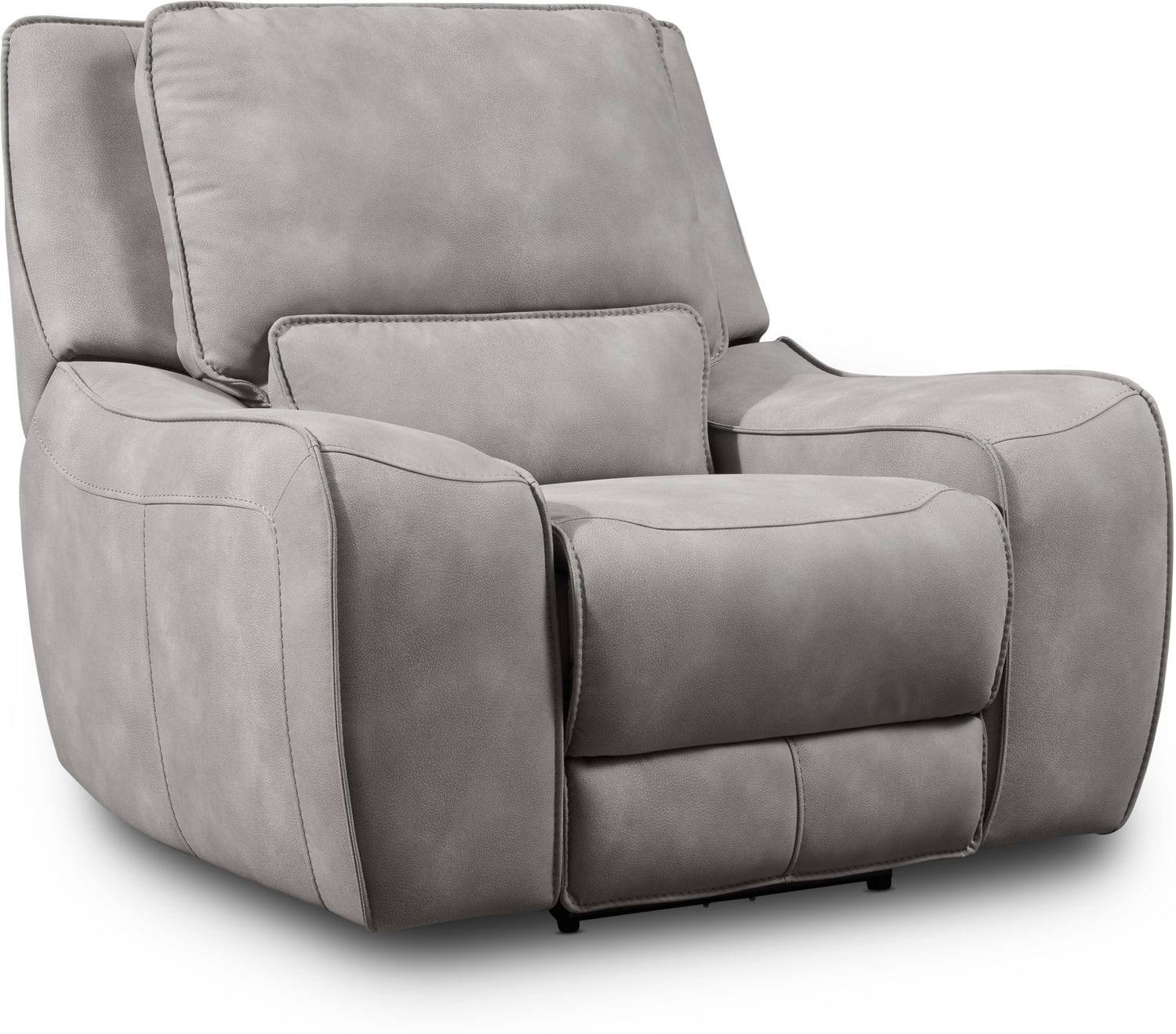 Living Room Furniture - Holden Dual-Power Recliner - Stone