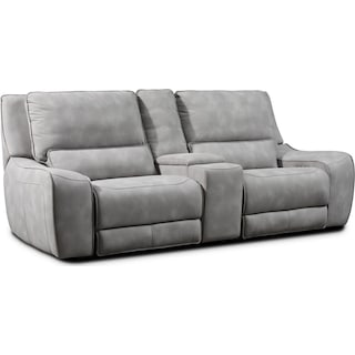 Holden Dual-Power Reclining Loveseat - Stone