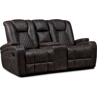 Felix Manual Reclining Loveseat - Brown