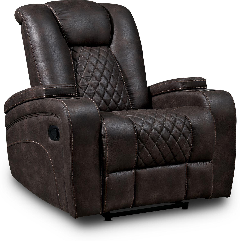 Living Room Furniture - Felix Manual Recliner - Brown