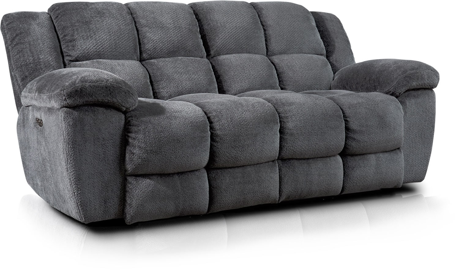 Living Room Furniture - Mellow Dual-Power Reclining Sofa - Gray