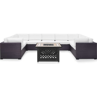 Isla 5-Piece Outdoor Sectional and Fire Table Set