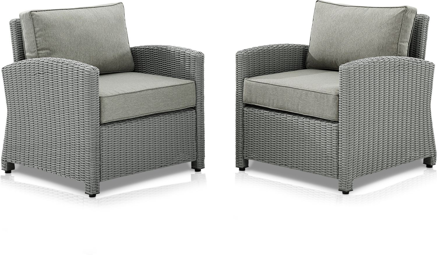 Outdoor Furniture - Destin Set of 2 Outdoor Chairs