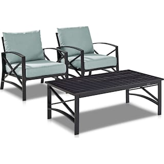 Clarion Set of 2 Outdoor Chairs and Coffee Table