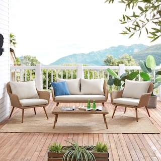 Delray Outdoor Loveseat, 2 Chairs and Coffee Table Set