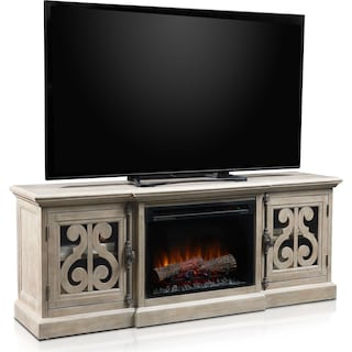 Charthouse Fireplace TV Stand - Gray
