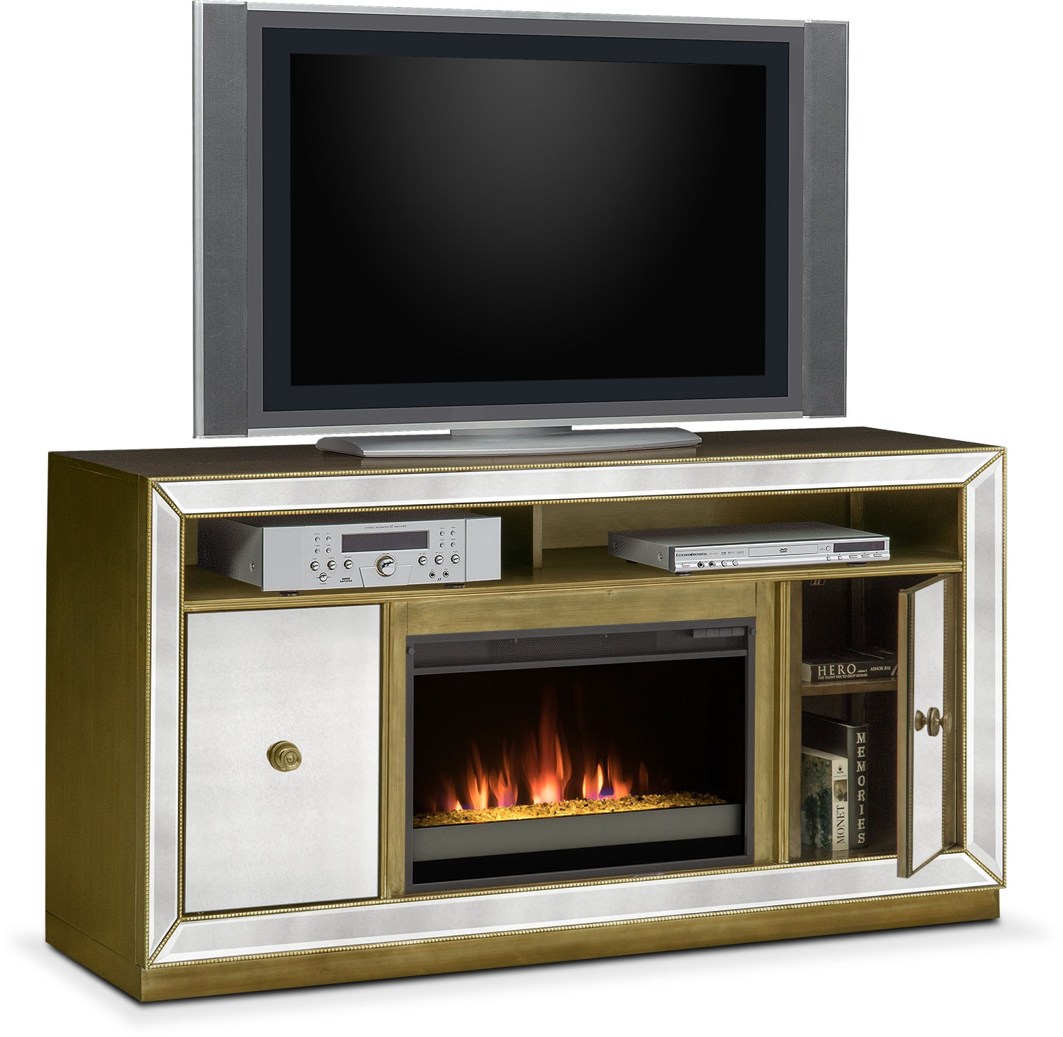 Entertainment Furniture - Reflection Fireplace TV Stand
