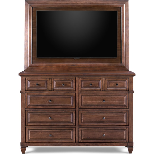 Bedroom Furniture - Rosalie Dresser with TV Mount