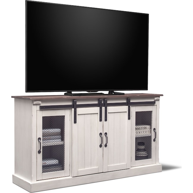 "Entertainment Furniture - Barn Door 65"" TV Stand"