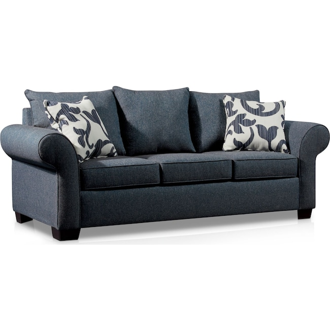 Living Room Furniture - Calloway Sofa - Blue