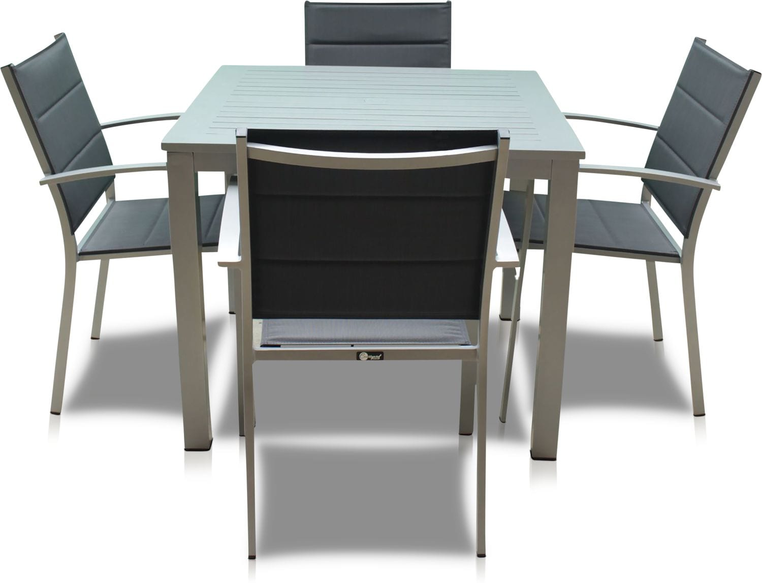 Outdoor Furniture - Edgewater Outdoor Square Dining Table and 4 Chairs