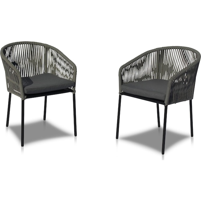 Outdoor Furniture - Paloma Set of 2 Outdoor Dining Chairs