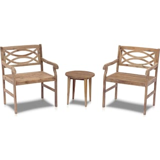 Dune Set of 2 Outdoor Chairs and End Table