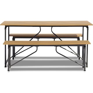 Bonaire Outdoor Picnic Table and Bench Set