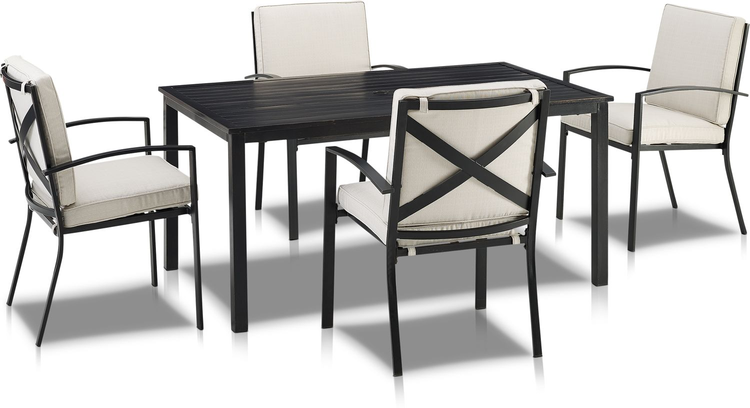 Outdoor Furniture - Clarion Outdoor Dining Table and 4 Dining Chairs