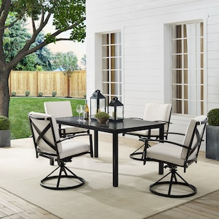 Clarion Outdoor Dining Table and 4 Swivel Chairs