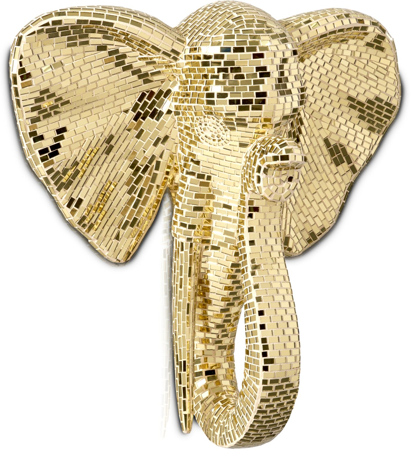 Home Accessories - Elephant Head Wall Art - Gold