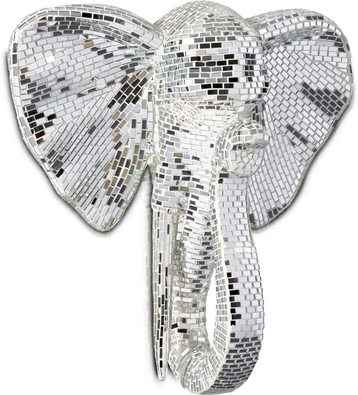 Home Accessories - Elephant Head Wall Art - Gray