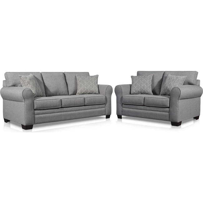 Living Room Furniture - Camila Sofa and Loveseat Set
