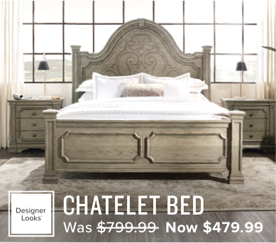 40% off the Chatelet bed now $479.99