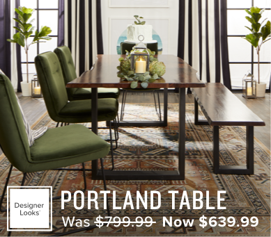40% off the portland table now $639.99