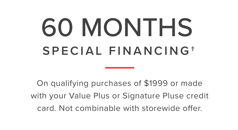 60 month financing learn more